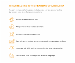 Resume Headline Mesmerizing 60 Tips To Writing A Winning Resume Headline LiveCareer