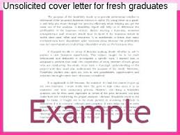 Unsolicited Cover Letter Template Unsolicited Cover Letter For Fresh