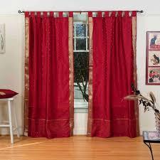 tab top sheer curtains. Maroon Tab Top Sheer Sari Curtain / Drape Panel - Pair Curtains