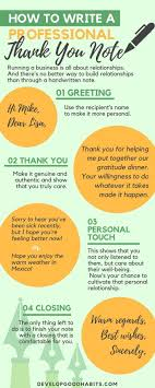 How To Write Professional Thank You Cards With Examples Personal