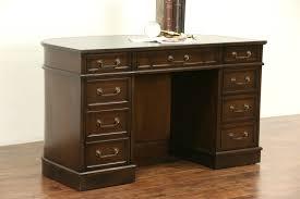 cherry 1970 vintage leather top desk signed sligh