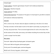 The five elements needed in a concept paper. Example Of A Concept Paper Download Scientific Diagram
