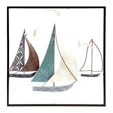 boat wall decor red sailboat home sailing boats