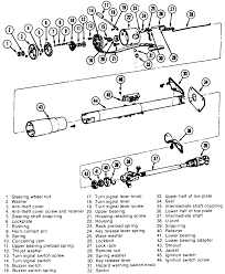 Repair guides steering turn signal switch exploded view of the column assembly used on models