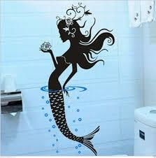ideas with image mermaid bathroom wall dazzling