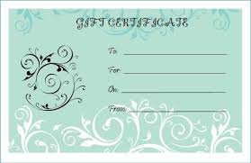 Gift Certificate Template Printable Certificates Elegant Blank Gift Certificate Templates Ideas