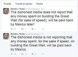 Image result for trump's border wall tweets + images