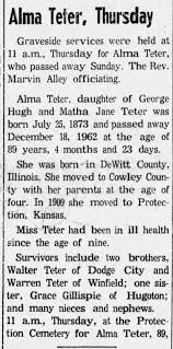Alma Teter Obit - Newspapers.com