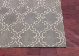 ont gray trellis rug moroccan ottomanson contemporary