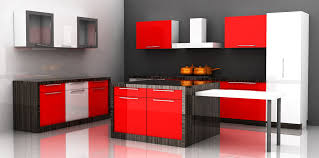 Red Gloss Kitchen Cabinets Marvelous Grey Kitchen Ideas For Small Space With Window Treatment