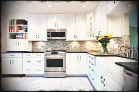 off white kitchen cabinets with black countertops. Bookcase And Decorative Yellow Desk Lamp Kitchen Backsplash Ideas For White Cabinets Black Countertops Cool Design Off With K