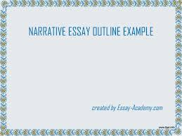 sample of a narrative essay outline