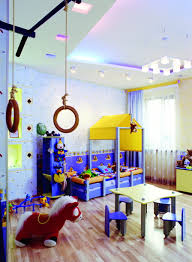Bedroom:Kids Play Room Decor With Small Blue Bed And Small Dining Table  Creative Kids