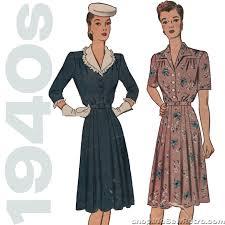 1940s Dress Patterns Extraordinary Simplicity 48 48s Vintage Pattern 48 Bust Dress Pattern