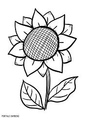 Disegni Di Girasoli Da Stampare E Colorare Gratis Portale Bambini
