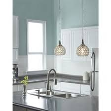 kitchen mini pendant lighting. style selections ladura 5in w chrome mini pendant light with crystal shade kitchen lighting
