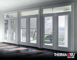 exterior doors with built in blinds smooth star fiberglass doors with internal blinds andersen sliding patio