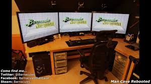 best gaming room tour pc xbox 360 racing simulator huge screens pure awesome you