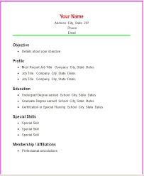 Basic Resume Example Cool Collection Of Solutions Example Of Basic Resume Layout Perfect