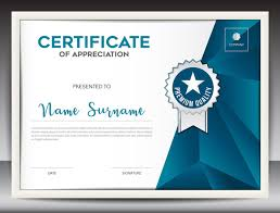 Certificate Template With Polygon Background Vector 01 Free Download