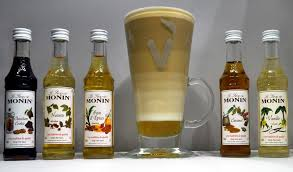 this selection of monin flavouring coffee syrups makes an ideal gift set or syrup starter pack to try each bottle is 50ml caramel vanilla hazelnut