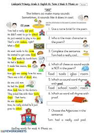We have four sets that include initial digraphs, final digraphs, sh/ch digraphs, and a mixed set of digraphs. Grade 3 Hl English Term 2 Week 4 Phonic Oo Worksheet 1 Monday Worksheet