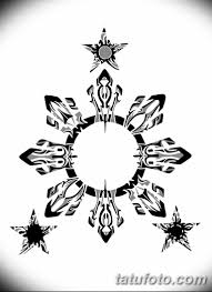 черно белый эскиз тату рисункок солнце 11032019 044 Tattoo