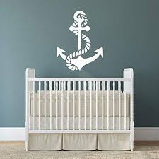 nautical wall decal anchor and rope