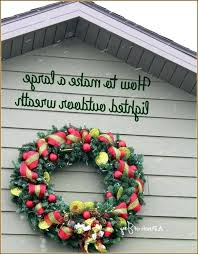 extra large outdoor wreaths lighted snowman wreath add red plum home interior decor