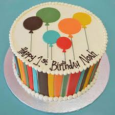 Shades Of Balloons Cake 2kg Vanilla Gift Birthday Cakes In Balloon