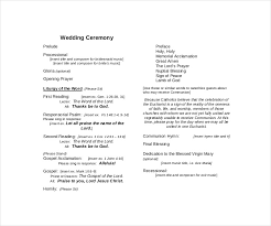 Wedding Ceremony Templates Free Ceremony Template Magdalene Project Org