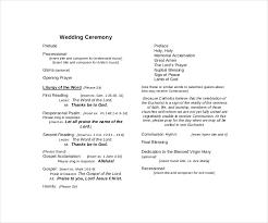 Ceremony Template 9 Wedding Ceremony Templates Free Pdf Doc Indesign