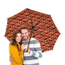 """Зонт-трость двусторонний с деревянной ручкой """"<b>Дикая малина</b> ..."""