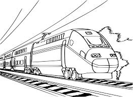 Coloriage Train Tgv Imprimer Et Colorier