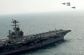 Afbeeldingsresultaat voor uss abraham lincoln ready to attack iran