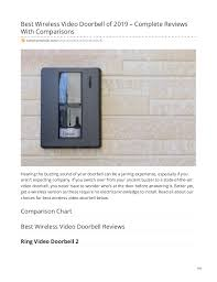 Ring Doorbell Comparison Chart 2019 Best Wireless Video Doorbell Of 2019 Complete Reviews With