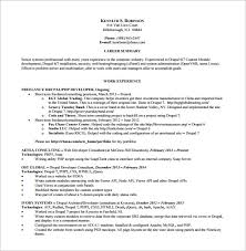 PHP Drupal Resume Free PDF Template Download