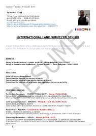 LAND SURVEYOR Resume 2013 legat. Updated Thursday, 10 October 2013 Sylvain  LEGAT 73 rue Petite 7050 HERCHIES BELGIUM Born 03 ...