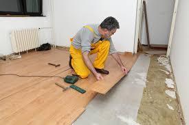 installing laminate under a doorway