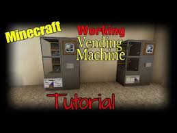 Minecraft Vending Machine Awesome Minecraft Working Vending Machine Tutorial YouTube