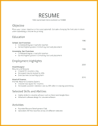 Microsoft Word Job Resume Template First Job Resume Template