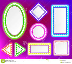 neon frame for text stock vector image  neon frame for text