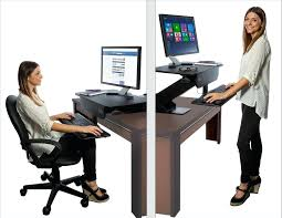 sit stand computer desk adjustable height gas spring easy lift standing desk sit stand up desk