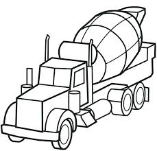 construction trucks coloring pages vehicles free printable truck cement sheets