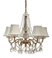 antique gold crystal chandelier silk shades 5 lights 17 5 w