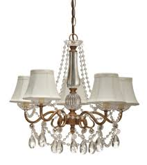 gold arm crystals chandelier 5 silk shades lamp shade pro