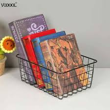 Solid 9 <b>Grid File</b> Storage Shelf Book Stand <b>Desktop</b> Nordic Wrought ...