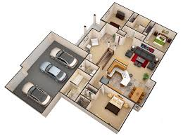 3d floor plans gives customers a birds eye view of what the floor plans looks like with walls and furniture take a look for yourself