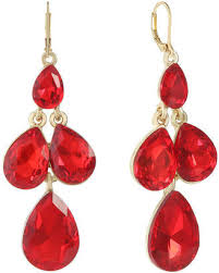 monet jewelry monet jewelry red chandelier earrings