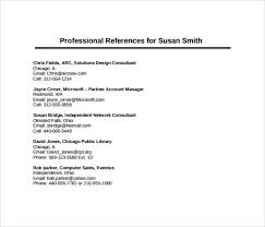 11 Sample Professional Reference Templates Sample